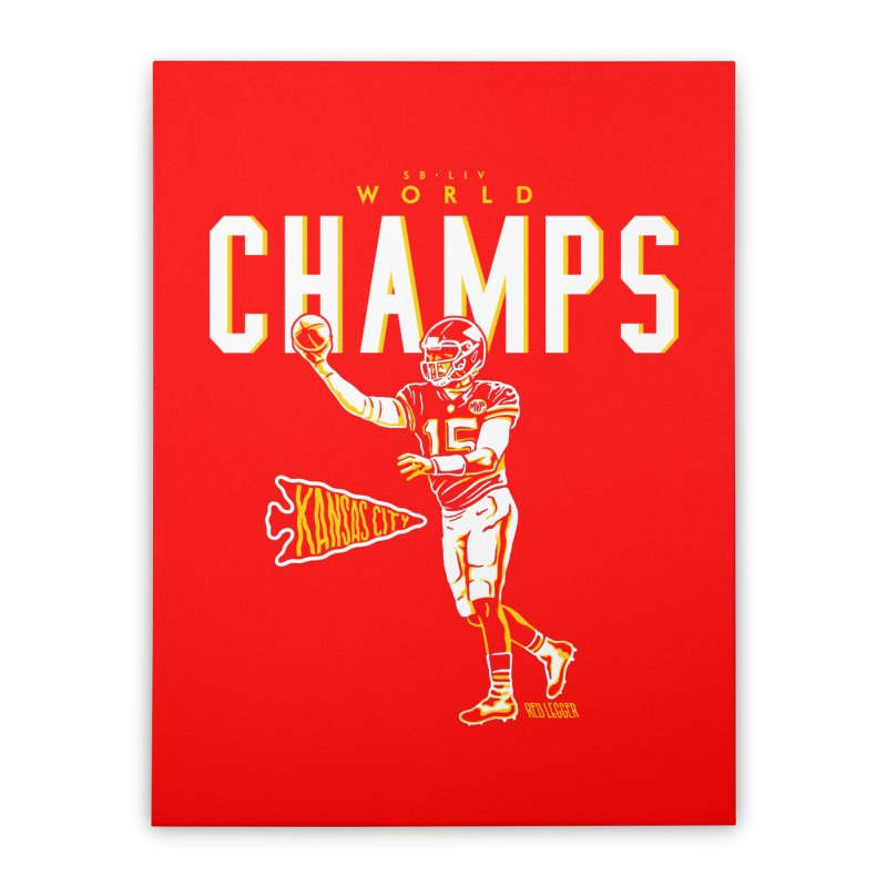 Champs Home Stretched Canvas by redleggerstudio's Shop