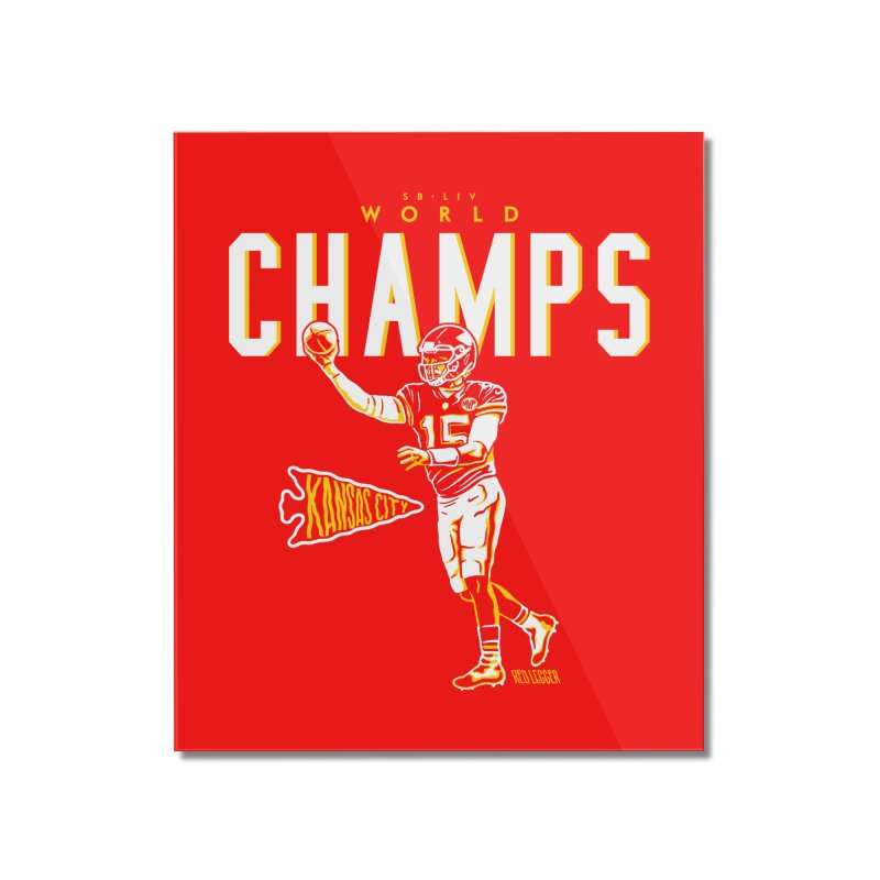 Champs Home Mounted Acrylic Print by redleggerstudio's Shop
