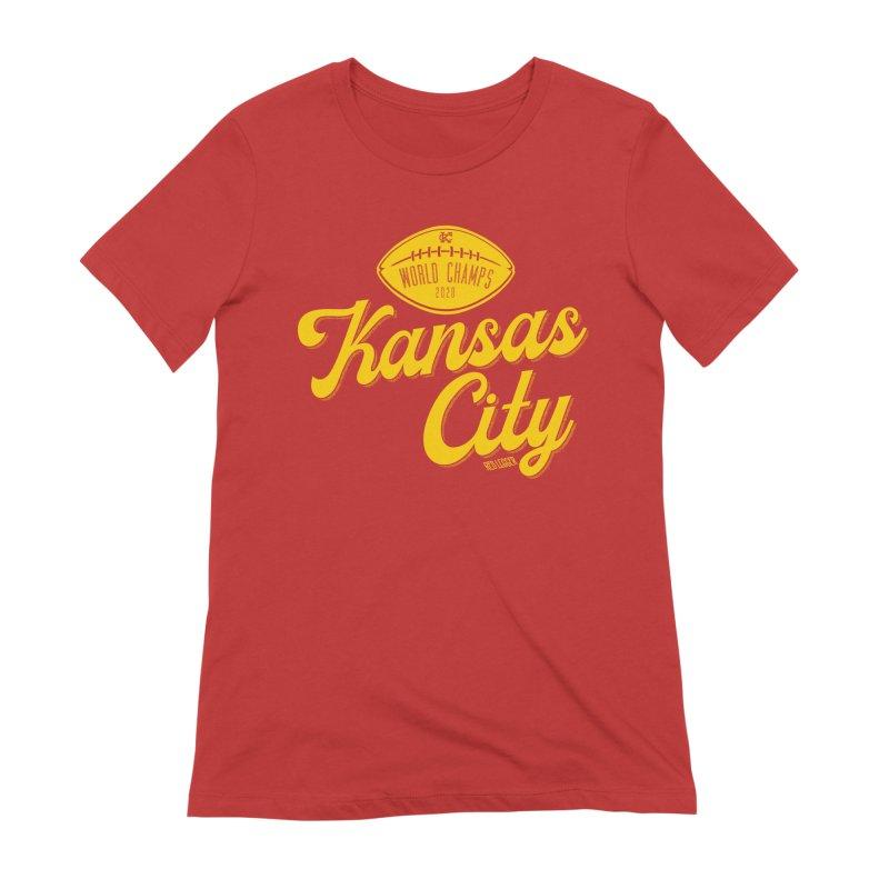 Kansas City Champs Women's Extra Soft T-Shirt by redleggerstudio's Shop