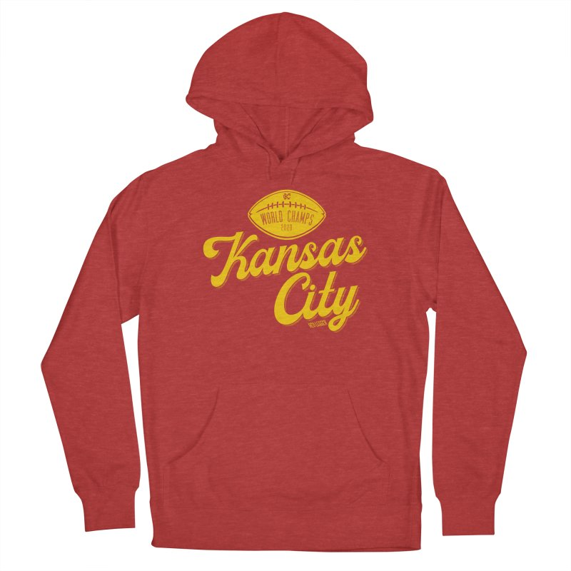 Kansas City Champs Women's French Terry Pullover Hoody by redleggerstudio's Shop