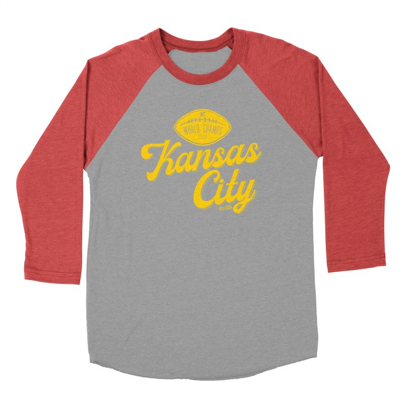 Kansas City Champs Women's Baseball Triblend Longsleeve T-Shirt by redleggerstudio's Shop