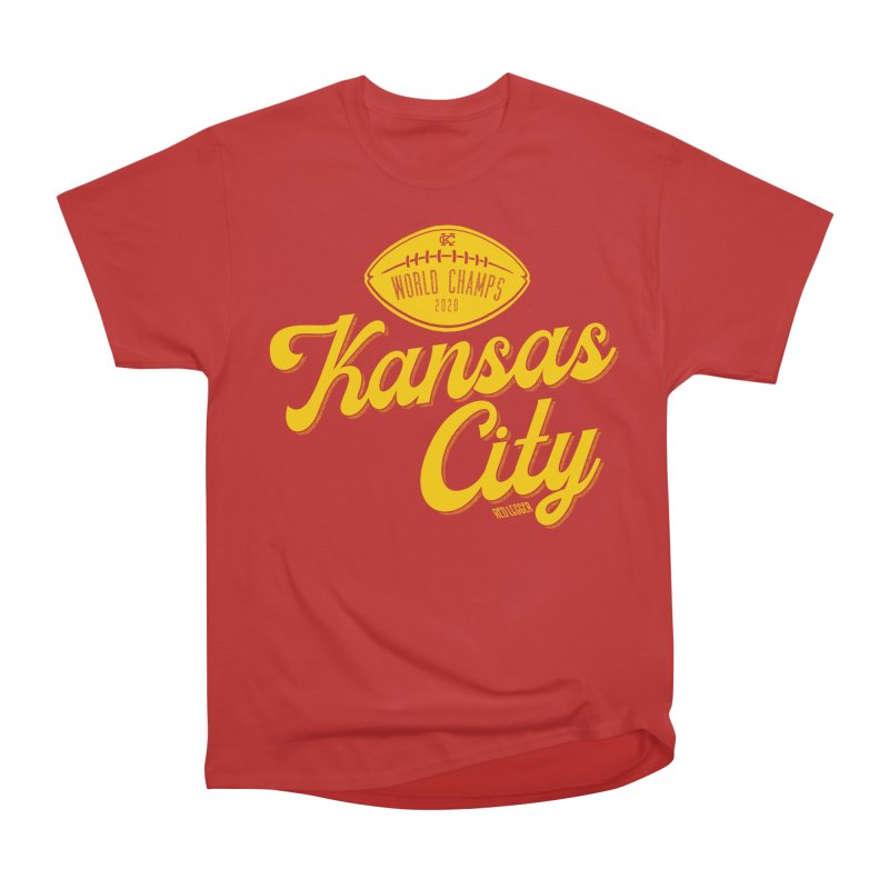 Kansas City Champs Men's Heavyweight T-Shirt by redleggerstudio's Shop
