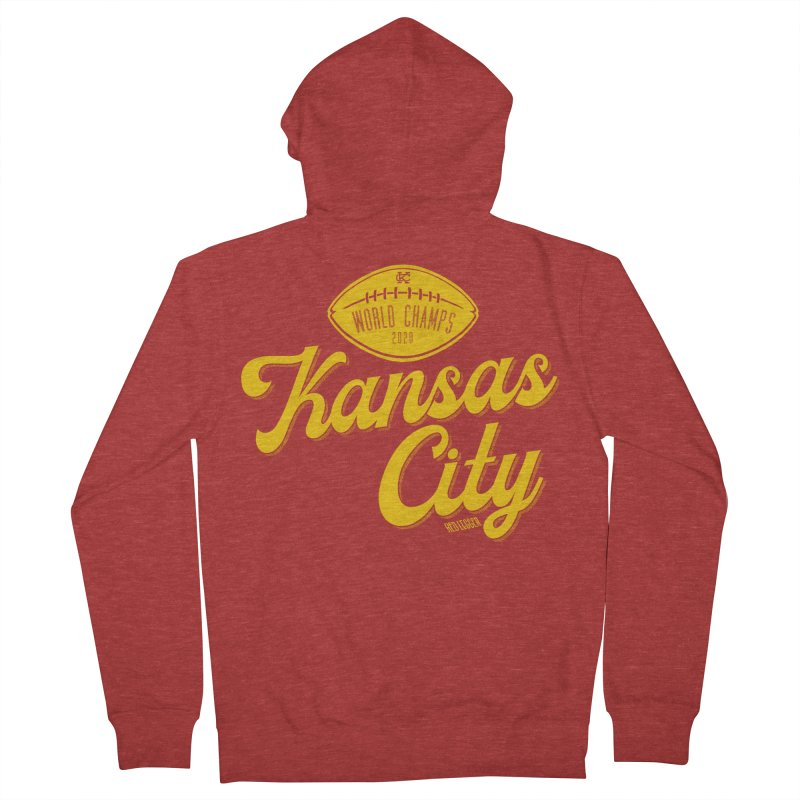 Kansas City Champs Women's French Terry Zip-Up Hoody by redleggerstudio's Shop
