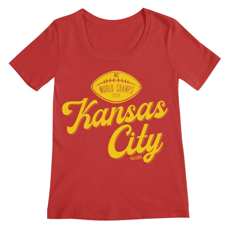Kansas City Champs Women's Regular Scoop Neck by redleggerstudio's Shop
