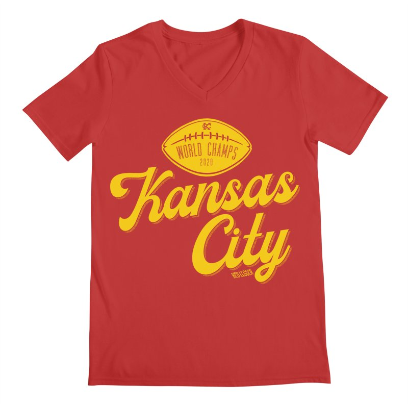 Kansas City Champs Men's Regular V-Neck by redleggerstudio's Shop