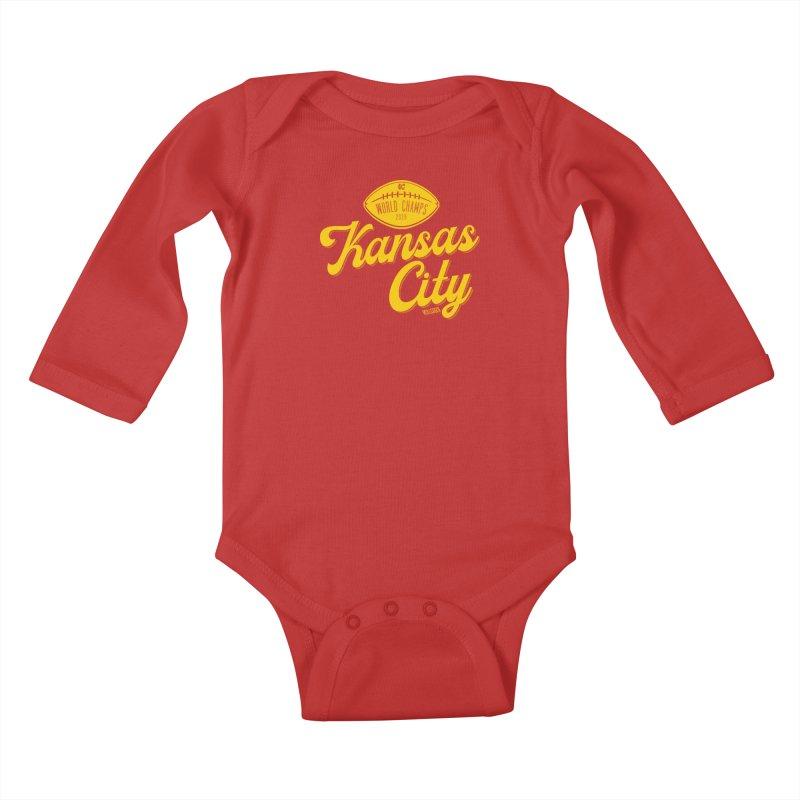 Kansas City Champs Kids Baby Longsleeve Bodysuit by redleggerstudio's Shop