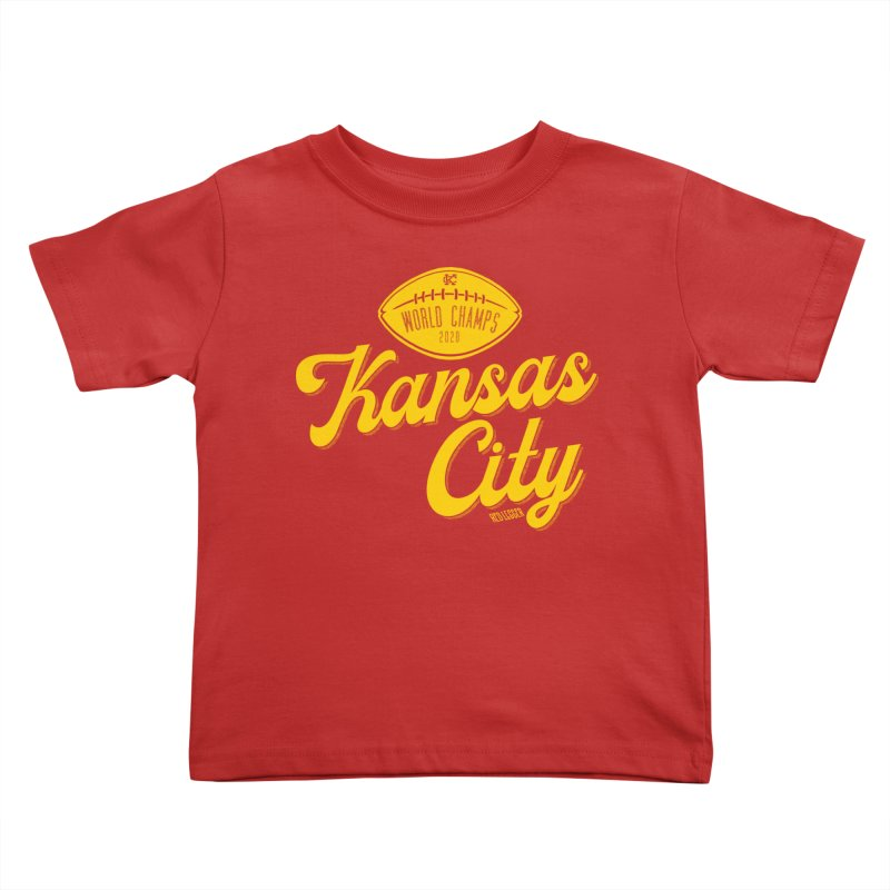 Kansas City Champs Kids Toddler T-Shirt by redleggerstudio's Shop