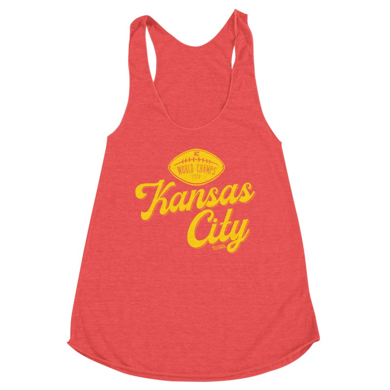 Kansas City Champs Women's Racerback Triblend Tank by redleggerstudio's Shop