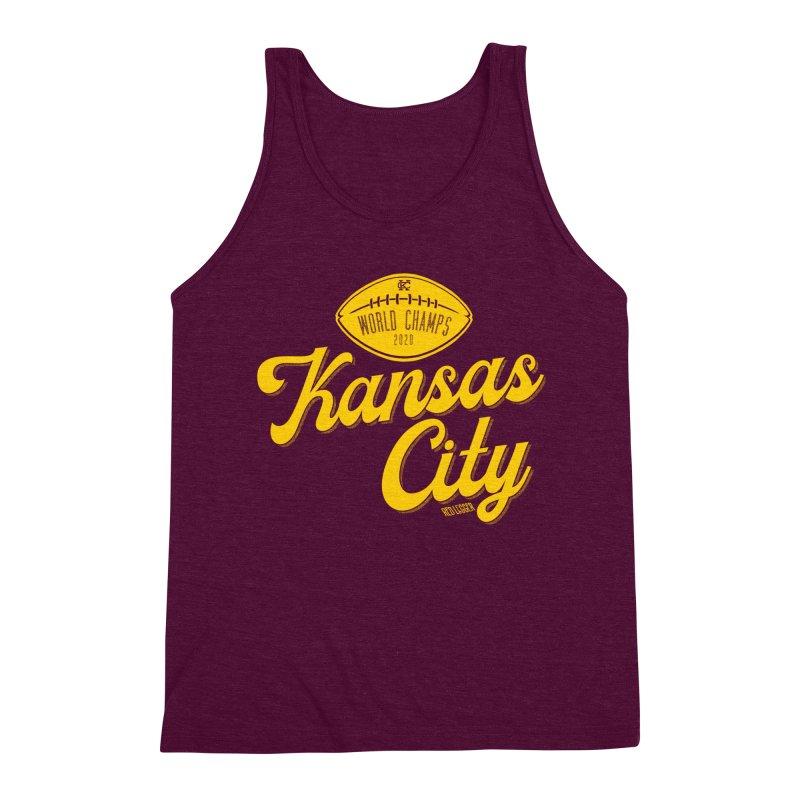 Kansas City Champs Men's Triblend Tank by redleggerstudio's Shop