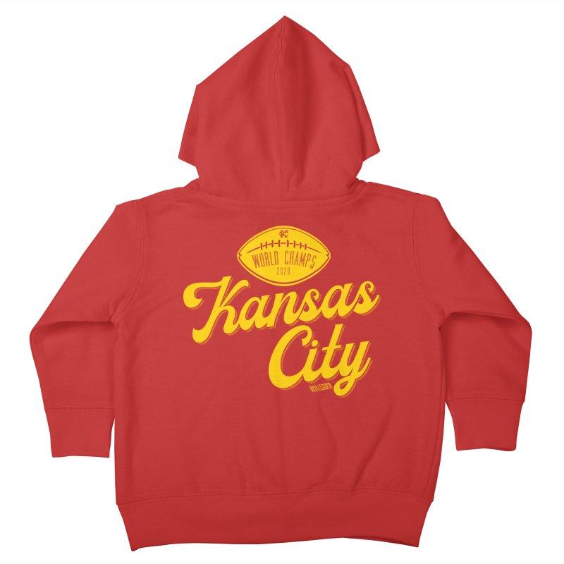 Kansas City Champs Kids Toddler Zip-Up Hoody by redleggerstudio's Shop