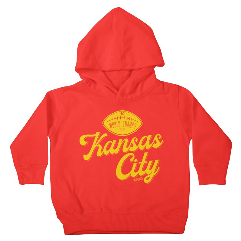 Kansas City Champs Kids Toddler Pullover Hoody by redleggerstudio's Shop