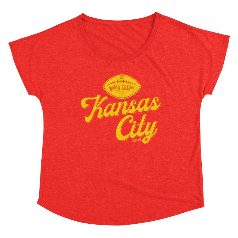 Kansas City Champs Women's Scoop Neck by redleggerstudio's Shop