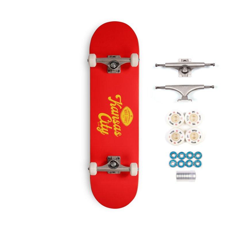 Kansas City Champs Accessories Skateboard by redleggerstudio's Shop