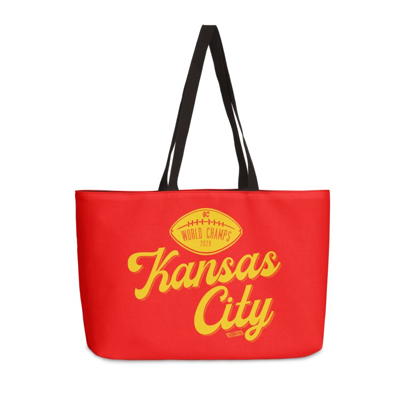 Kansas City Champs Accessories Weekender Bag Bag by redleggerstudio's Shop