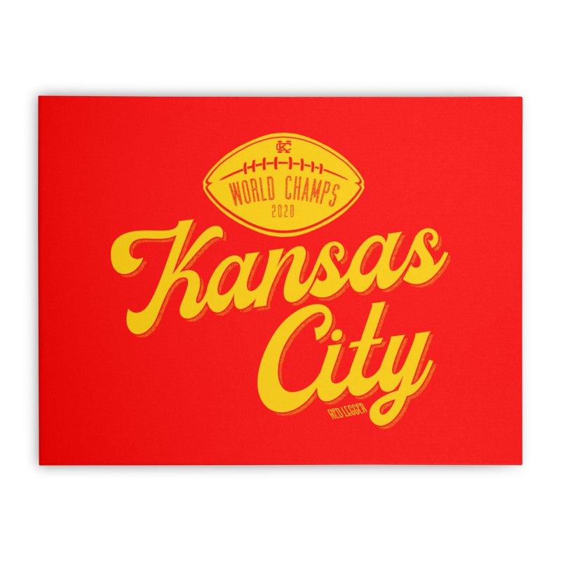 Kansas City Champs Home Stretched Canvas by redleggerstudio's Shop