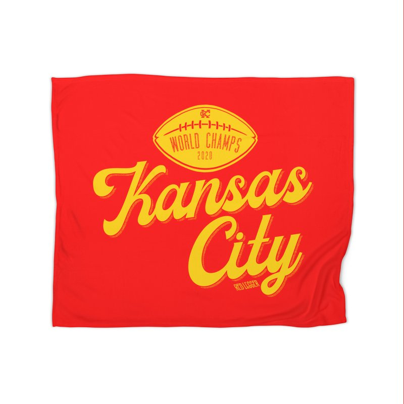 Kansas City Champs Home Fleece Blanket Blanket by redleggerstudio's Shop