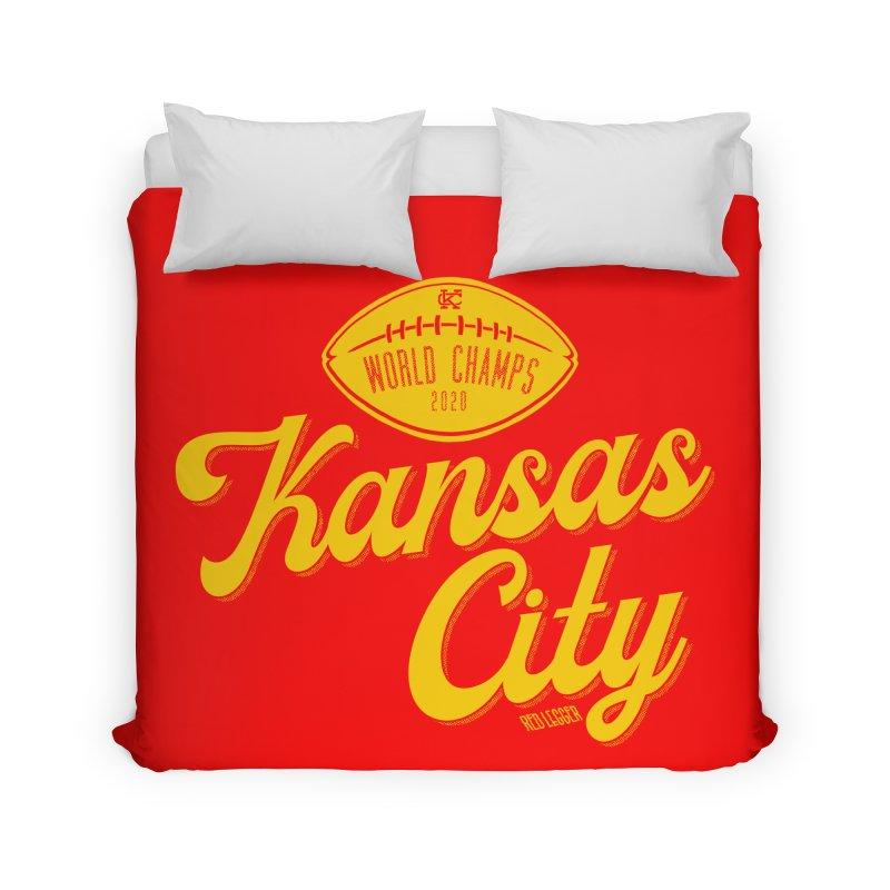 Kansas City Champs Home Duvet by redleggerstudio's Shop