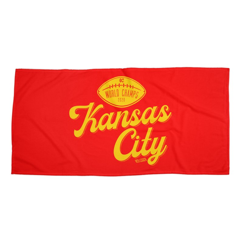 Kansas City Champs Accessories Beach Towel by redleggerstudio's Shop