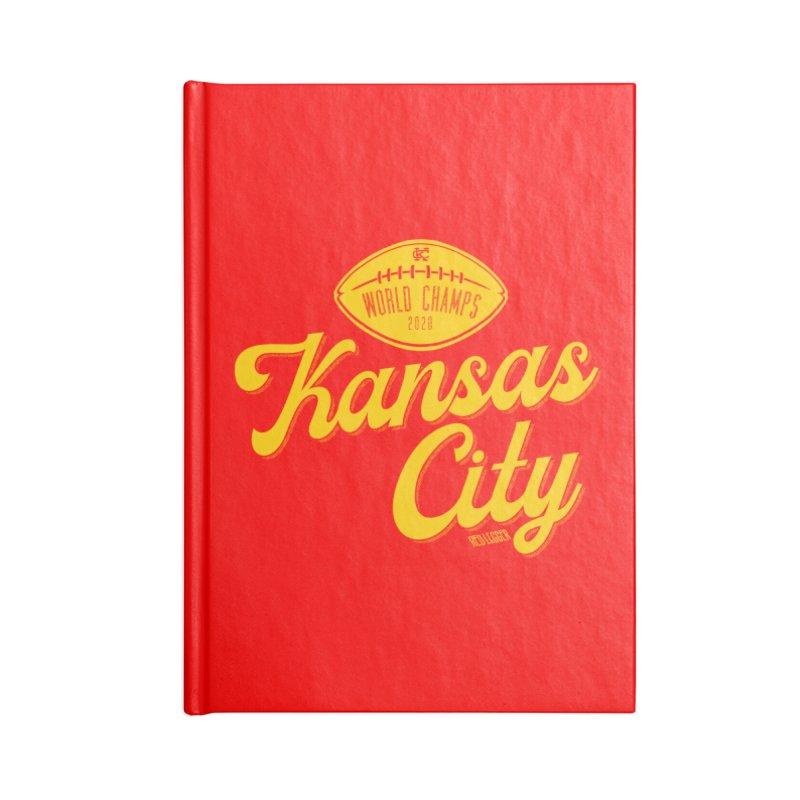 Kansas City Champs Accessories Lined Journal Notebook by redleggerstudio's Shop