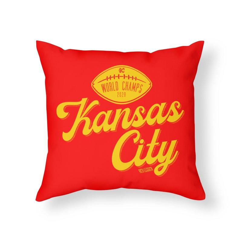 Kansas City Champs Home Throw Pillow by redleggerstudio's Shop