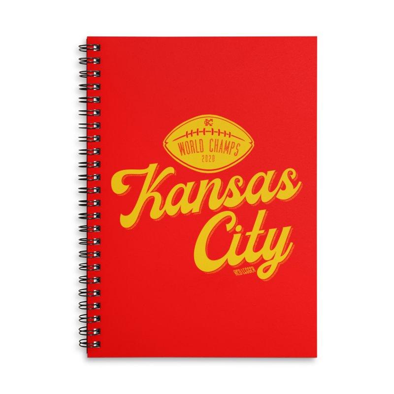 Kansas City Champs Accessories Notebook by redleggerstudio's Shop