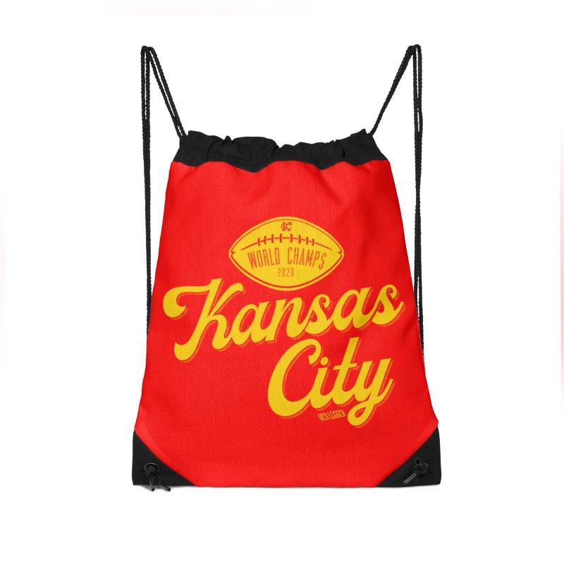 Kansas City Champs Accessories Drawstring Bag Bag by redleggerstudio's Shop