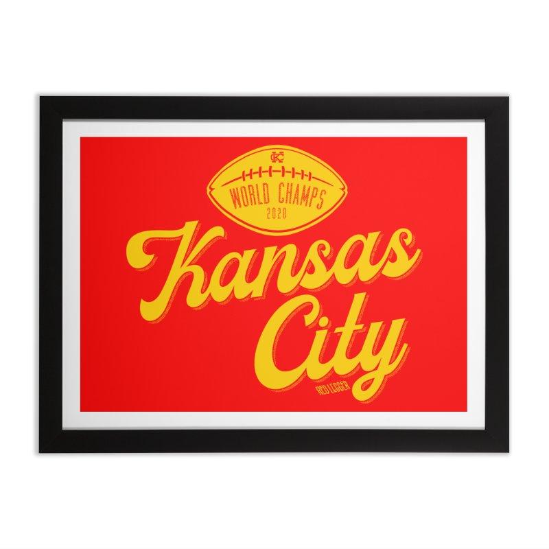 Kansas City Champs Home Framed Fine Art Print by redleggerstudio's Shop