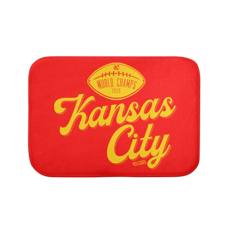 Kansas City Champs Home Bath Mat by redleggerstudio's Shop
