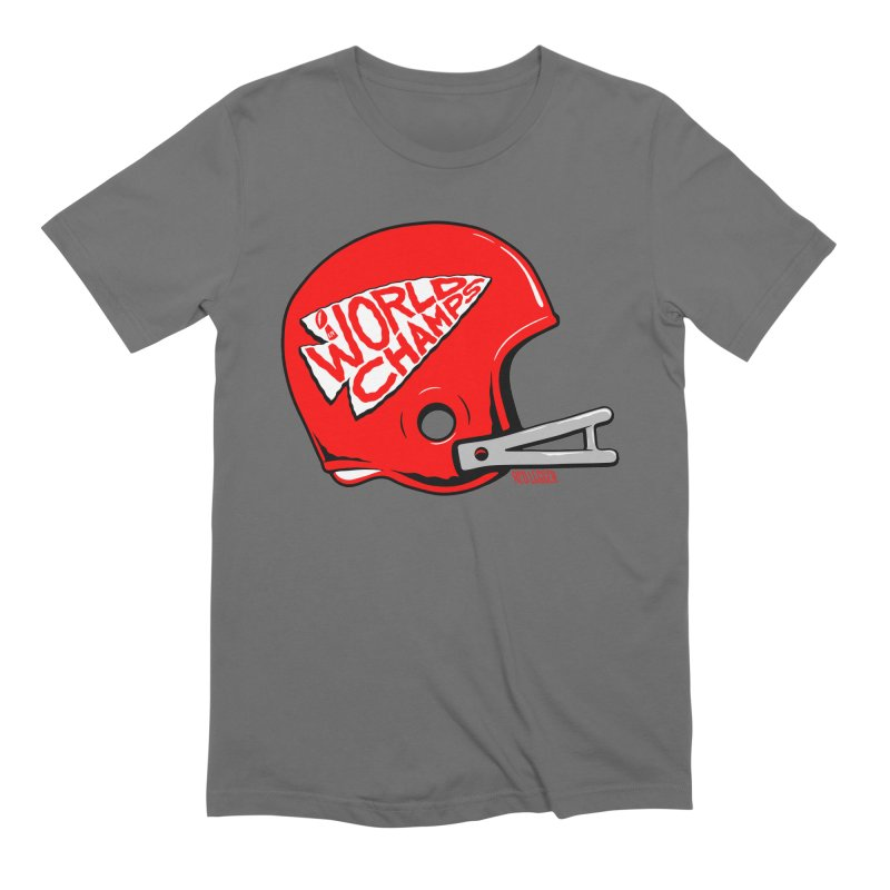 Champs Helmet Men's T-Shirt by redleggerstudio's Shop