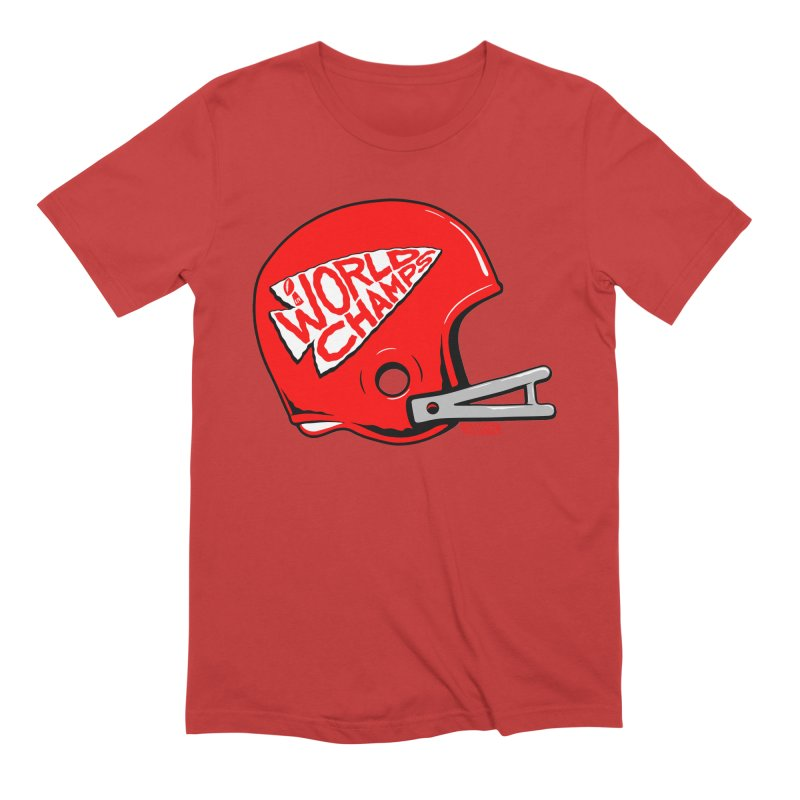 Champs Helmet Men's Extra Soft T-Shirt by redleggerstudio's Shop