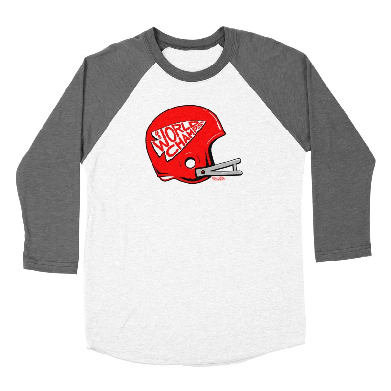 Champs Helmet Women's Longsleeve T-Shirt by redleggerstudio's Shop