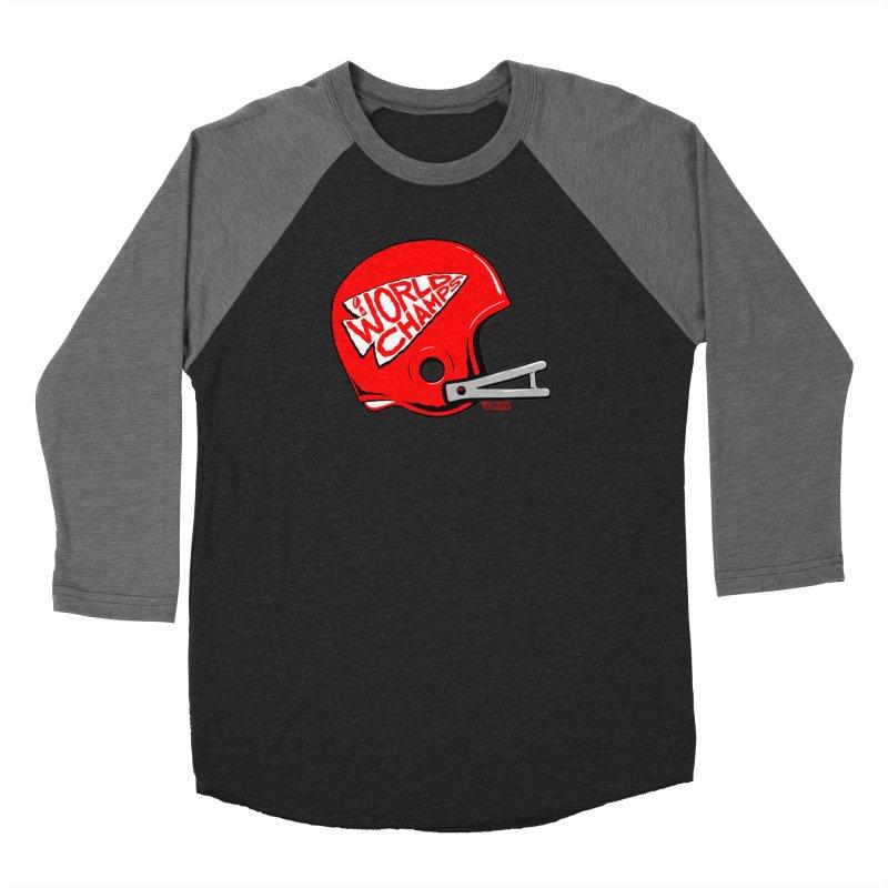 Champs Helmet Men's Baseball Triblend Longsleeve T-Shirt by redleggerstudio's Shop