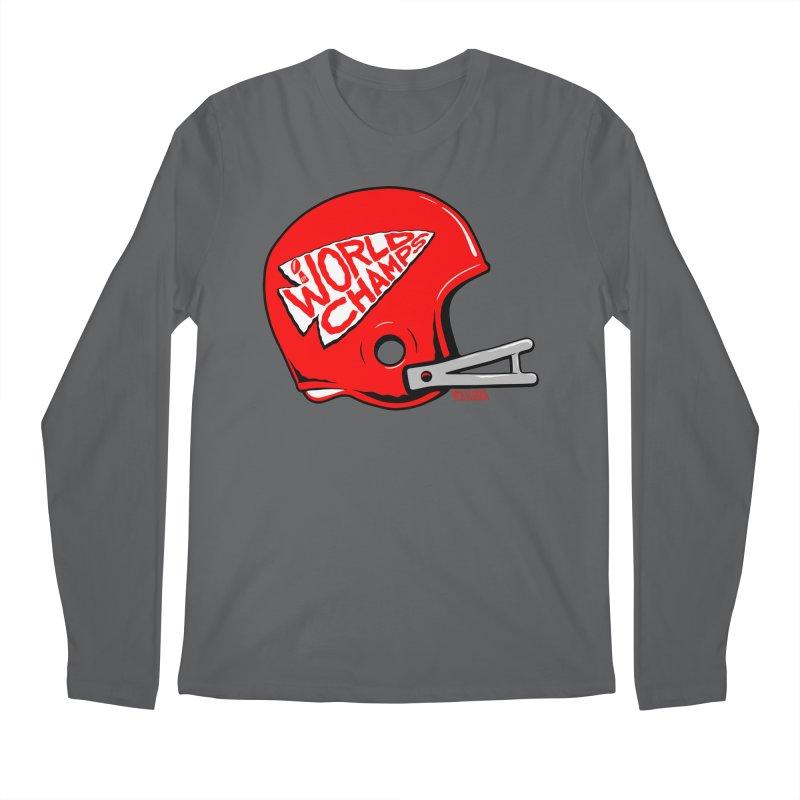 Champs Helmet Men's Longsleeve T-Shirt by redleggerstudio's Shop