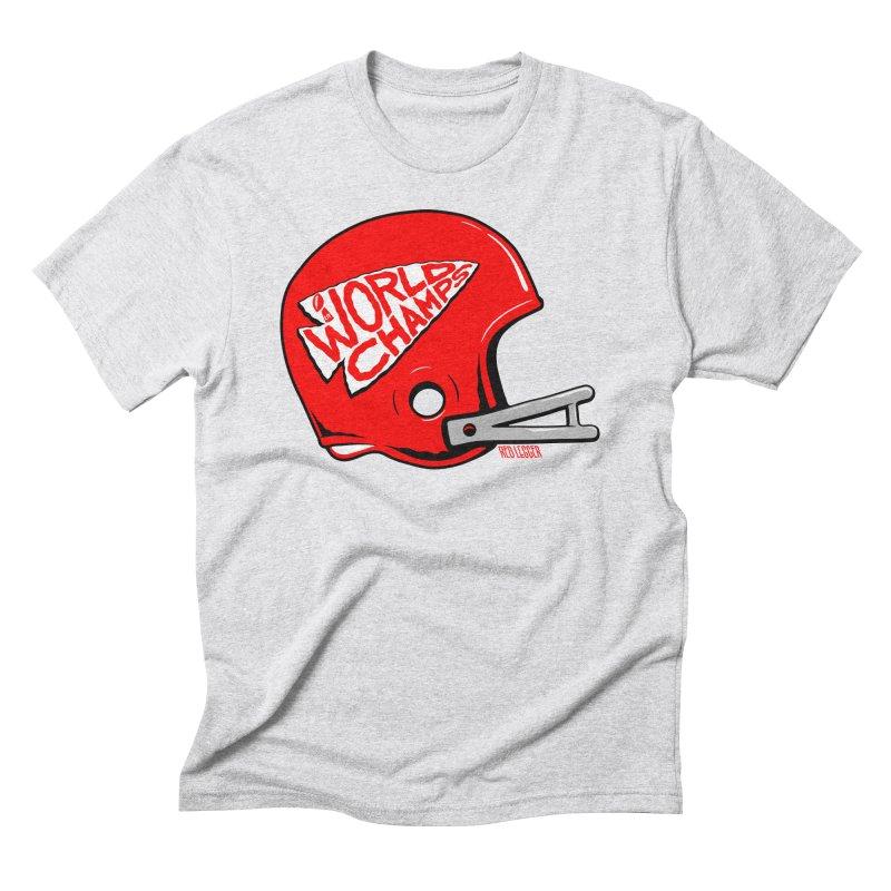 Champs Helmet Men's Triblend T-Shirt by redleggerstudio's Shop