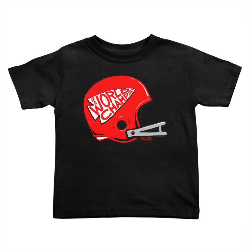 Champs Helmet Kids Toddler T-Shirt by redleggerstudio's Shop