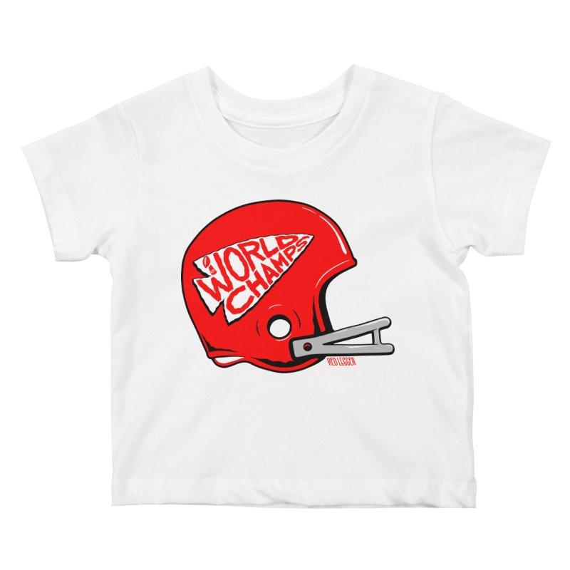 Champs Helmet Kids Baby T-Shirt by redleggerstudio's Shop