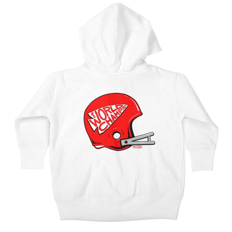 Champs Helmet Kids Baby Zip-Up Hoody by redleggerstudio's Shop
