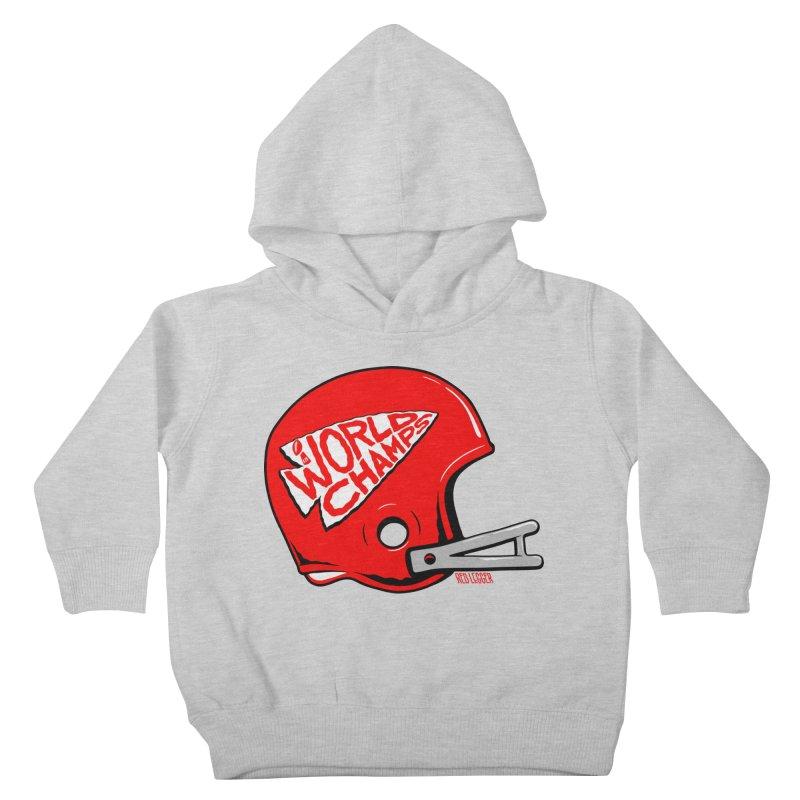 Champs Helmet Kids Toddler Pullover Hoody by redleggerstudio's Shop