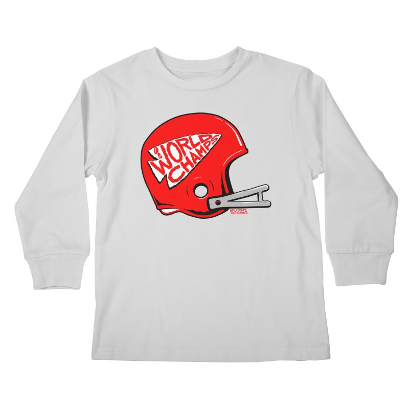 Champs Helmet Kids Longsleeve T-Shirt by redleggerstudio's Shop