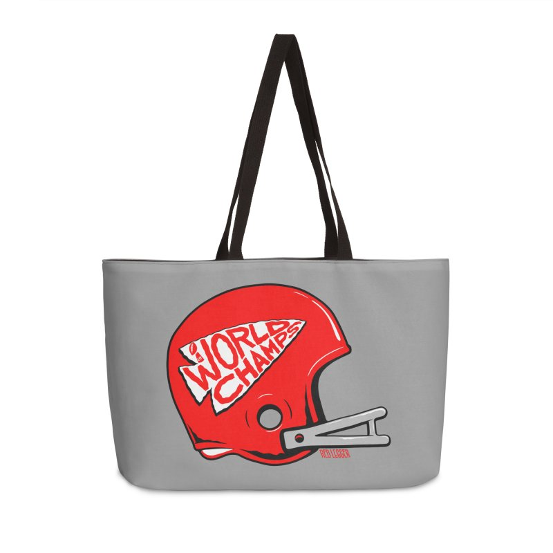 Champs Helmet Accessories Weekender Bag Bag by redleggerstudio's Shop