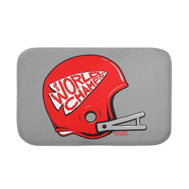 Champs Helmet Home Bath Mat by redleggerstudio's Shop