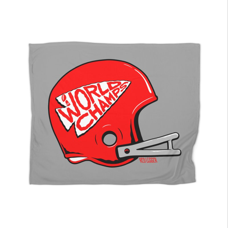 Champs Helmet Home Fleece Blanket Blanket by redleggerstudio's Shop