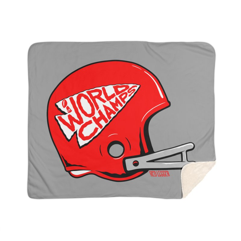 Champs Helmet Home Blanket by redleggerstudio's Shop