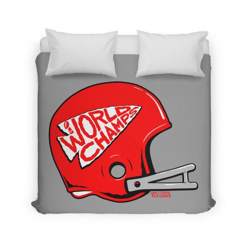 Champs Helmet Home Duvet by redleggerstudio's Shop