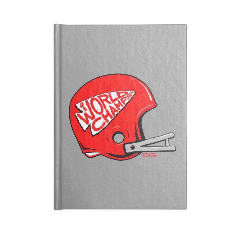 Champs Helmet Accessories Lined Journal Notebook by redleggerstudio's Shop