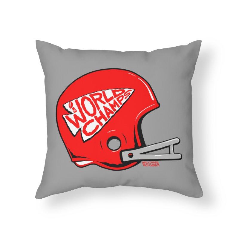 Champs Helmet Home Throw Pillow by redleggerstudio's Shop