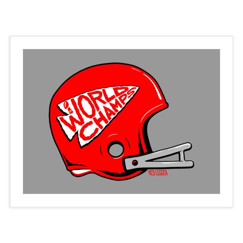 Champs Helmet Home Fine Art Print by redleggerstudio's Shop
