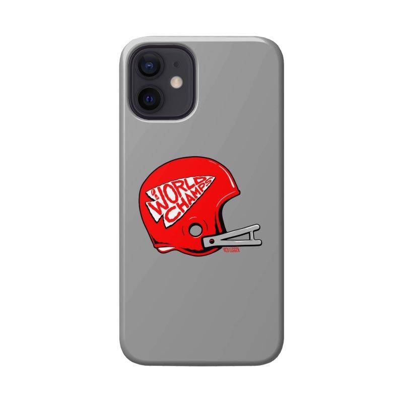 Champs Helmet Accessories Phone Case by redleggerstudio's Shop