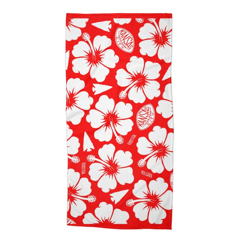 KC Big Red Hawaiian Accessories Beach Towel by redleggerstudio's Shop