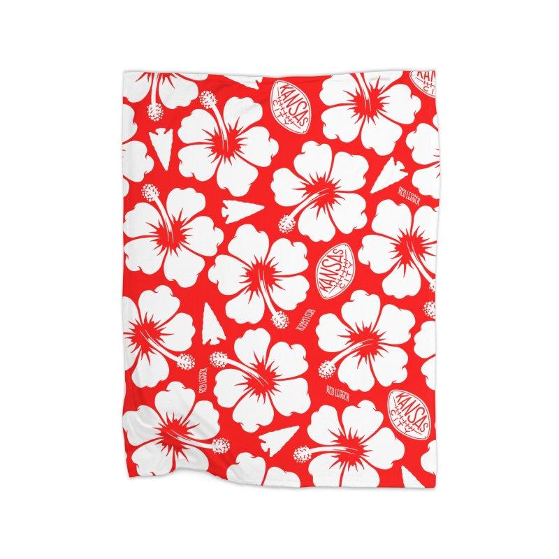 KC Big Red Hawaiian Home Blanket by redleggerstudio's Shop